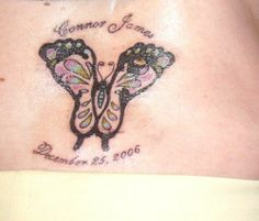 images of. footprint tattoo | took his footprints from the day he was born and had the tattoo ...