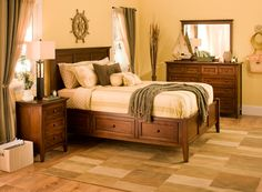 Sophisticated and streamlined, this Westlake 4-piece queen platform bedroom set with storage bed is destined to satisfy.