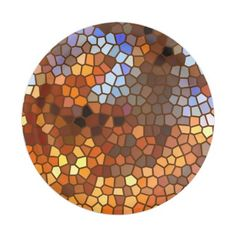 Autumn Mosaic Abstract Paper Plate