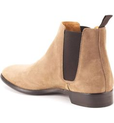 043a23a8fcd HANDMADE MENS BEIGE SUEDE LEATHER CHELSEA DRESS FORMAL BOOT LEATHER ANKLE  BOOT - Boots Beige Chelsea