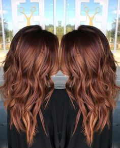 Haarfarben Love this! Copper Balayage, Balayage Hair, Hair Inspo, Hair Inspiration, Hair Color Auburn, Brown Auburn Hair, Brown Hair, Hair Color And Cut, Hair Colour