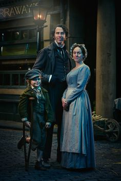 Dickensian - Emily Cratchit and Bob Cratchit with Tim Cratchit