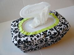 I've been wondering how to cover a wipes box for a while. Why did I never think just to slipcover it?