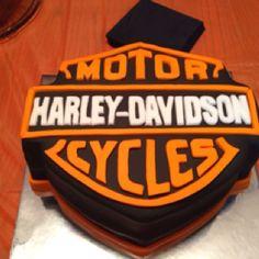 Harley Davidson Happy Birthday Cakes   harley davidson