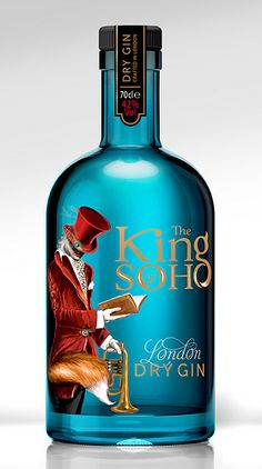 The King of Soho London Dry #Gin #packaging love PD