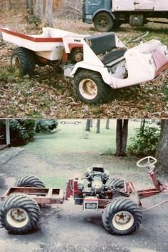 >>Just click the link for more info 4 seater atv. Check the webpage to get more … - Lawn Mower Big Trucks, Pickup Trucks, Small Garden Tractor, Small Tractors, Lawn Tractors, Homemade Tractor, Tractor Accessories, Diy Go Kart, Tractor Attachments