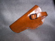 Leather Automatic Holster Chestnut Tan by wynnsleather on Etsy, $15.00