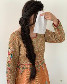 [New] The 10 Best Home Decor (with Pictures) - Fish tail for her mayoun day as requested ____________________________________________________ Hairstyle ____________________________________________________ Pakistani Hair, Girl Hairstyles, Wedding Hairstyles, Fish Tail, Hair Inspo, Salons, Popular, Bridal, Drawings