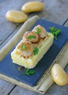 Ecrasée de pommes de terre à l'huile de truffes et Saint Jacques