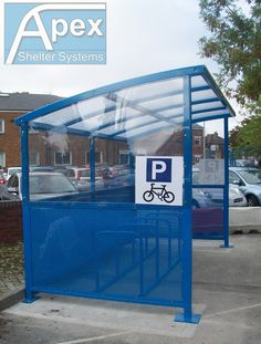 Bike Shelter - Caster Design by Apex Shelter Systems