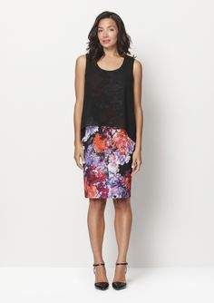 A great dress which looks like a skirt and top by Diana Ferrari.