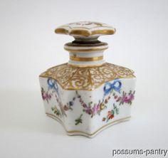 19th C French Paris Porcelain Perfume Bottle Scent Bottle Signed | eBay