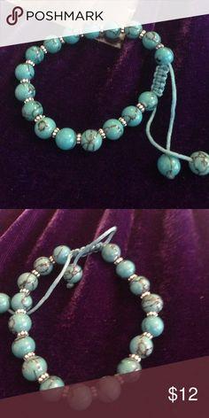 Turquoise Beaded Shambella Bracelet💟Sale 3 for 17 Beautiful Turquoise Beaded Adjustable Shambella, wonderful gift nwot Jewelry Bracelets