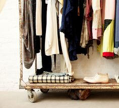 Antique clothing rack