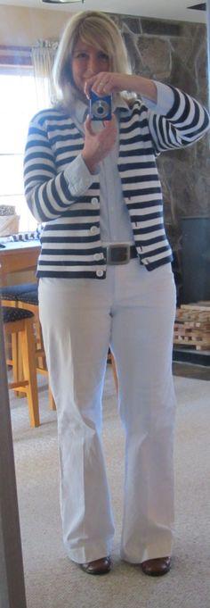 DIY striped sweater resize