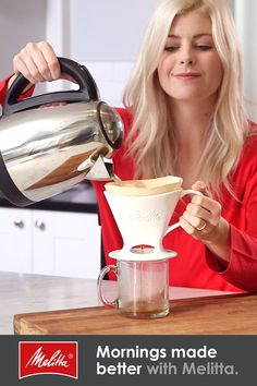 Join us in the pursuit for better coffee™. Shop Coffee Filters, Coffee, Pour-Overs & Electric Coffee Makers at the Official Melitta® Shop. Coffee Filter Art, Coffee Filter Wreath, Coffee Filter Crafts, Coffee Filters, Coffee Bar Home, Coffee Shop, I Love Coffee, Best Coffee, Starbucks Summer Drinks