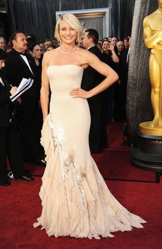 Cameron wins for the only Oscar 2012 dress I really liked.
