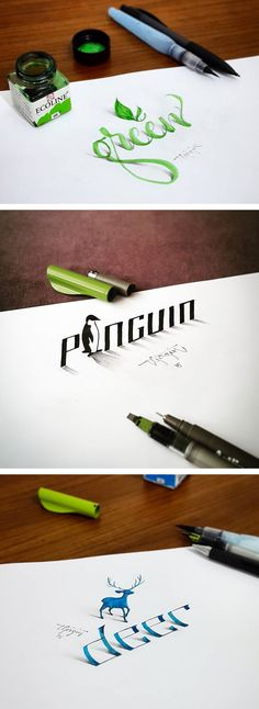 3D calligraphy by Tolga Girgin | lettering | hand lettering | creative calligraphy