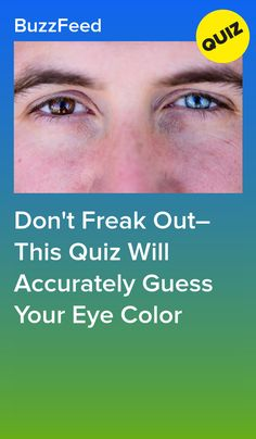 Don't Freak Out–This Quiz Will Accurately Guess Your Eye Color Quizzes About Boys, Fun Quizzes To Take, Random Quizzes, Eye Test Quiz, Zodiac Sign Quiz, Best Buzzfeed Quizzes, Love Quiz, Color Quiz, Playbuzz Quizzes