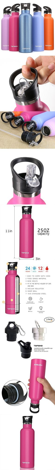 25 OZ Vacuum Insulated Stainless Steel Double Wall Leak Proof BPA Free Sport Bottle Rose with Straw lid