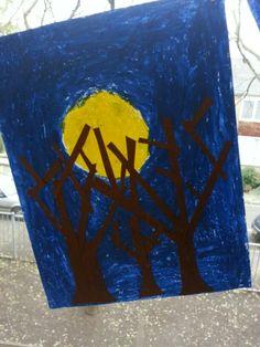 Zie de maan schijnt door de bomen...met groep 4!