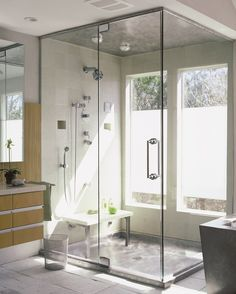 "Dusche mit Ausgang zum Garten? Stainless Steel Shower Pan with Matching Stainless Steel Ceiling Panel 40"" x 60"" x 4"""