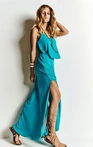 Vestido Longo Fenda Morena Rosa