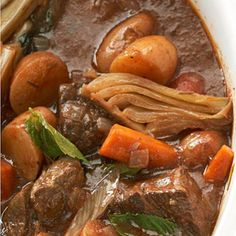 From Diabetic Living..,Country Italian Beef Stew:  Country Italian Beef Stew    Satisfy any appetite with this flavor-filled stew. Rosemary and basil amp up the Italian zest while keeping calories and carbs to a minimum.