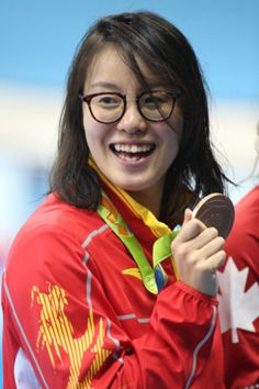 The 20-year-old swimmer catapulted to Olympic (well, Olympic social-media) fame when she discovered on air that she placed third — not fourth — in the women's 100-meter backstroke semifinals, which meant she'd qualified to compete in the final.