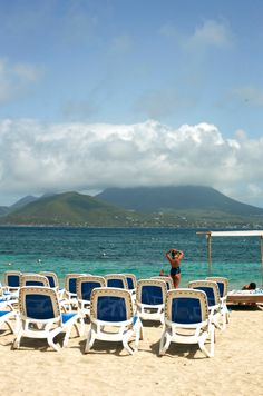 Beautiful blue waters of St. Kitts.