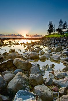 Sunrise at Burleigh Heads, Gold Coast, Queensland, Australia Gold Coast Queensland, Gold Coast Australia, Queensland Australia, Melbourne Australia, Oh The Places You'll Go, Places To Travel, Places To Visit, Tasmania, Beautiful World