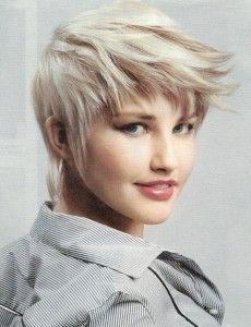 Blonde Choppy Pixie Haircut