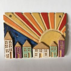 Wall hangings, ceramic wall hanging, wall decoration, wall ornament, wall hanging house picture, wall decor, ceramic home decor, by RJPotteryshop on Etsy https://www.etsy.com/uk/listing/556747125/wall-hangings-ceramic-wall-hanging-wall