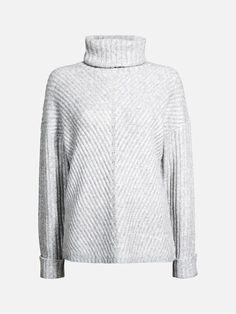 Adriana strikket genser | | Lys grå | BikBok | Norge  Str.L