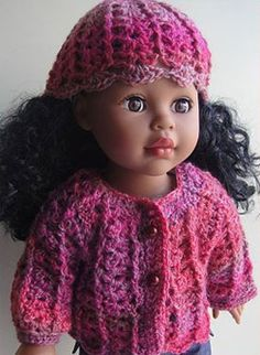 "Sausalito  18"" Sausalito Crochet Shell Stitch Doll Set"