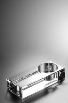 Oleg Cassini Havana Crystal Cigar Ashtray ... Smoking accessories gift ideas for men