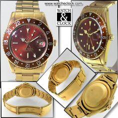 """Rolex Gmt Master Ref.1675 """"Occhio Di Tigre"""" Automatico, cassa e bracciale in oro giallo, vetro plastica, Ø40mm. Anno 1959"""