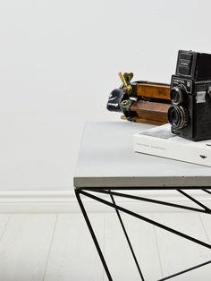 Stolik kawowy MONO S   #beton #design #coffeetable #furniture #stolik kawowy Concrete Coffee Table, Coffee Table Design, Coffee Tables, Number Stamps, Space Interiors, Steel Rod, Scandinavian Style, A Team, Icon Design