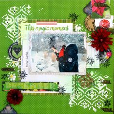 1 Layout 3 Ways!!! This Magic Moment by Agnieszka Bellaidea for BoBunny featuring the Calendar Girl Collection. #BoBunny @bellaideascrap