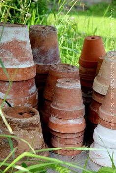 aged clay pots, I can't pass them by when I find them