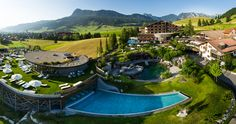 "Fit durch die Kraft der Berge: Aktiv im ""Hotel Jungbrunn"" in Tirol Spa, Landscape Architecture Design, Bergen, Permaculture, Beautiful Places, Mansions, Lifestyle, House Styles, Outdoor Decor"
