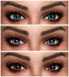 "kenzar-sims: "" Cleo Eyes • 12 swatches • Found in face paint. • Hope you like it ! • Tag me if you use it ! Download eyes(Simfileshare) """