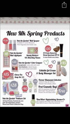 Mary Kay spring 2016 products. Email me to order today! F.skellett@yahoo.com