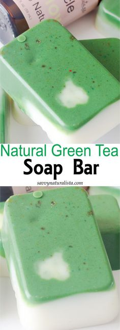 Soaper once sold green tea soap bars on a etsy shop that is now close. Well let's recreate that soap! Green Tea Soap, Matcha Green Tea Powder, Green Bar, Homemade Soap Recipes, Bath Recipes, Homemade Scrub, Bath Soap, Bath Tub, Homemade Beauty