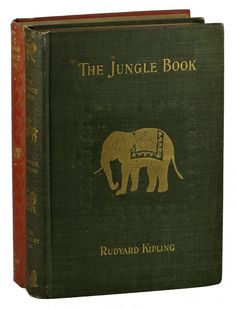 The Jungle Books (Two Volume Set) by Kipling, Rudyard New York: The Century Company, First Edition. Volumes I and II, both first American editions. more Offered By Burnside Rare Books Old Books, Vintage Books, Jungle Book Nursery, If Rudyard Kipling, Beautiful Book Covers, I Love Books, Book Cover Design, Book Authors, Book Collection