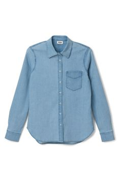 Quarter denim blouse