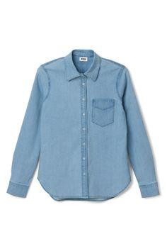 Quarter denim blouse