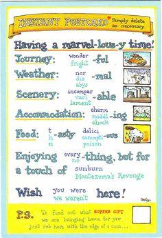 Imagini pentru how to write a postcard