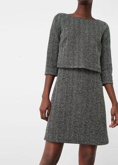 Vestido doble capa | MANGO