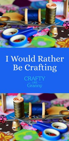 "Have you ever been doing a task and thinking ""I would rather be crafting""? I am sure there are many times that this thought has come into your mind. Particularly when doing something unrelated to craft, that you are not particularly enjoying :) We share some excellent tutorials for fabulous crafting inspiration. Here, here to dreaming about craft! Please share and make Mondays fun, get our craft inspiration delivered to your inbox - CraftyLikeGranny.com #crafts #crocheting #knitting #sewing"